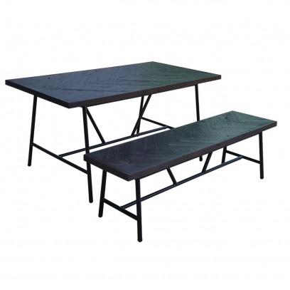 Reclaimed Lanj Set Table & Bench